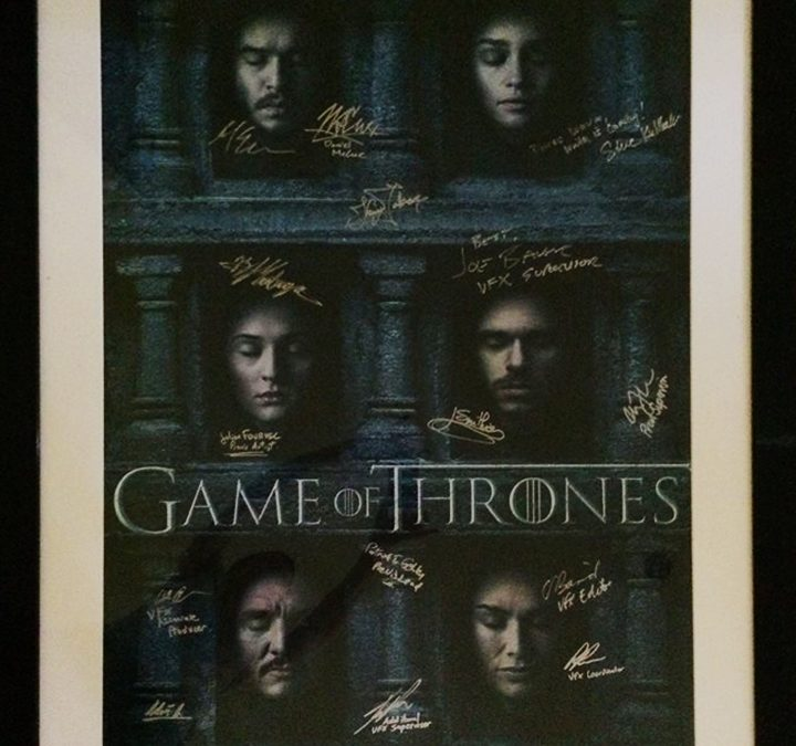 LIVE AUCTION: GAME OF THRONES POSTER